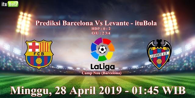 Prediksi Barcelona Vs Levante - ituBola