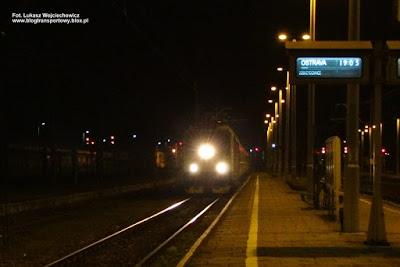 Lokomotywa 163 047-4 z poc. interREGIO nr 3053, stacja Oświęcim