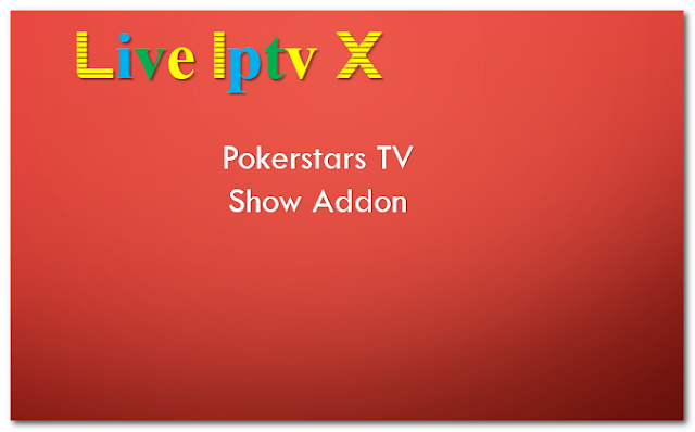 Pokerstars TV Show Addon