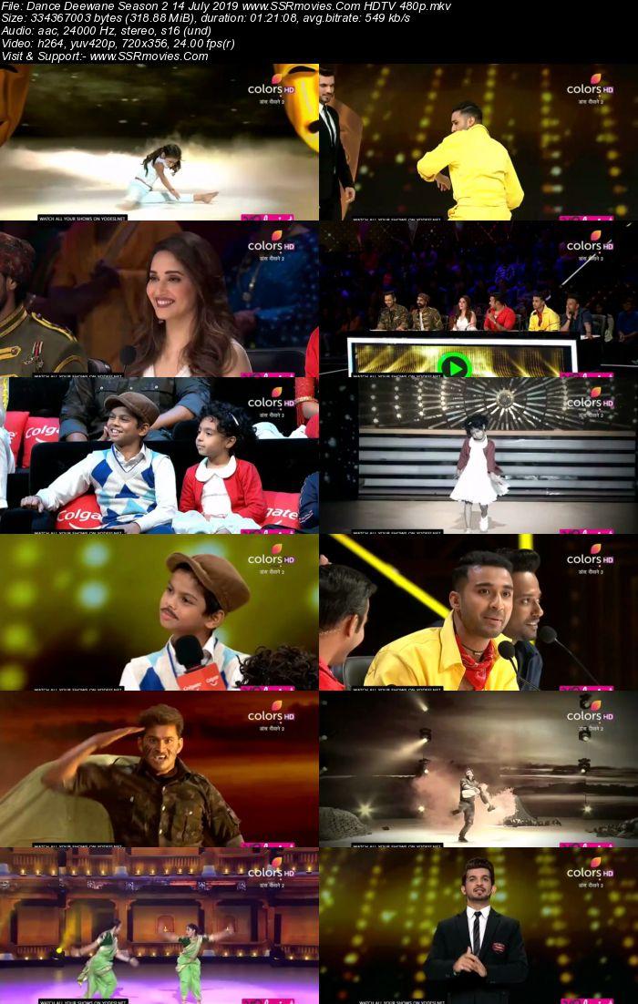 Dance Deewane Season 2 14 July 2019 HDTV 480p Full Show