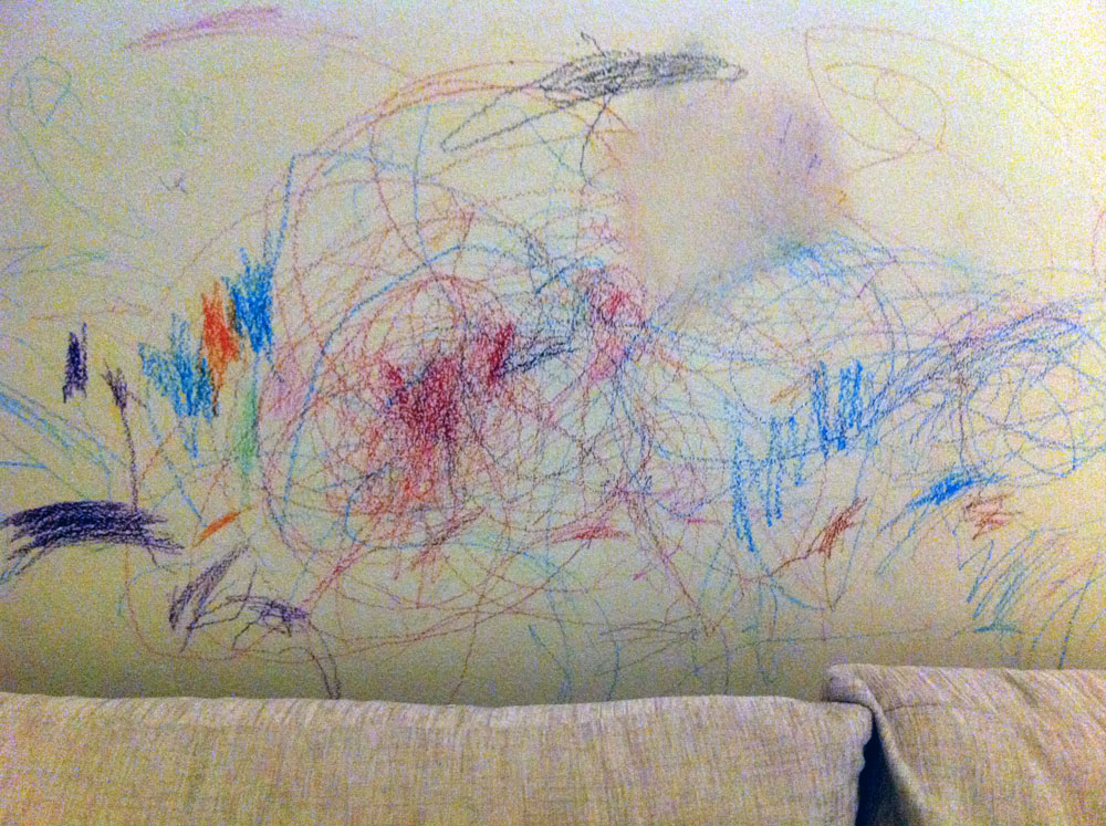 Image result for crayons on the walls images
