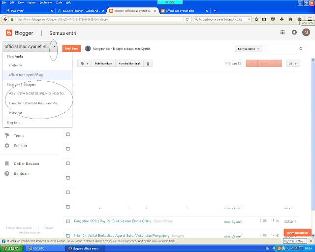 Cara Mengembalikan Blog yang telah di hapus pada Blogspot