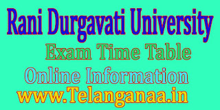 Rani Durgavati University B.Com (Hons) 2nd Sem Sept 2016 Revised Exam Time Table