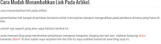 cara mudah menambahkan link pada artikel. - blog