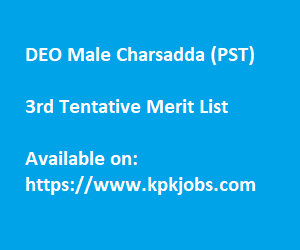 Merit list male charsadda pst