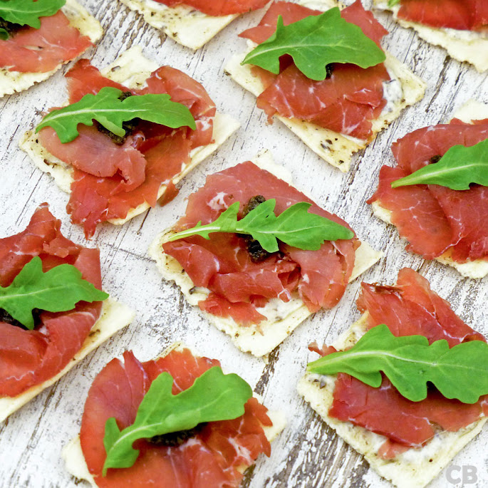 Recept Italiaanse toastjes met verse bresaola en zelfgemaakte truffelmayonaise