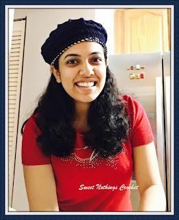 free crochet pattern, free crochet beret, free crochet headwear,