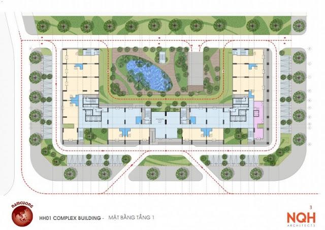 Mặt bằng quy hoạch chung cư Anland Nam Cường