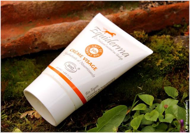 Crème visage au lait de jument bio Equiderma - Blog beauté Les Mousquetettes©