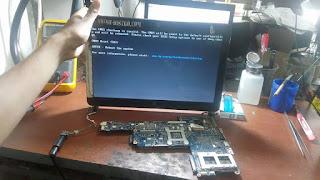 service laptop hp dv3 tidak tampil di malang