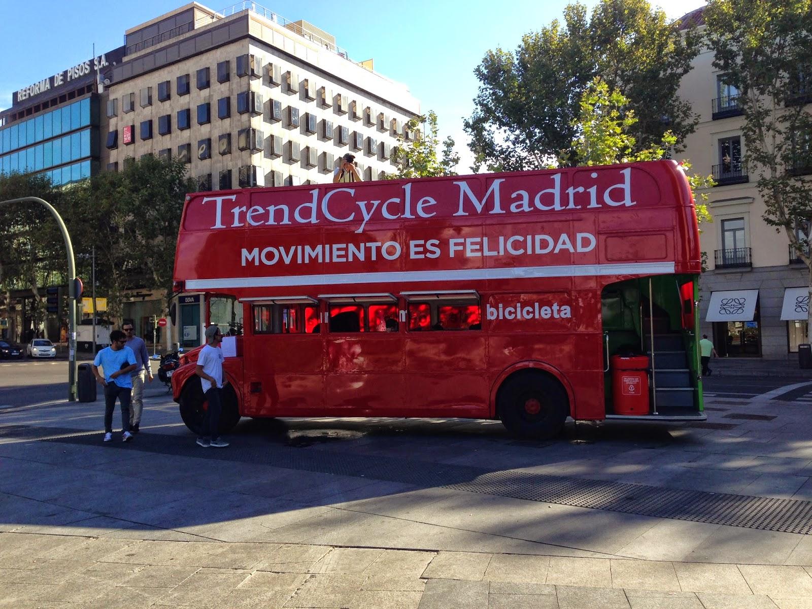 Autobús de prensa de TrendCycle Madrid 2014 - Foto: Amaya Barriuso