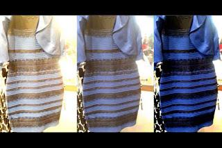 Vestido azul y negro o vestido blanco con dorado
