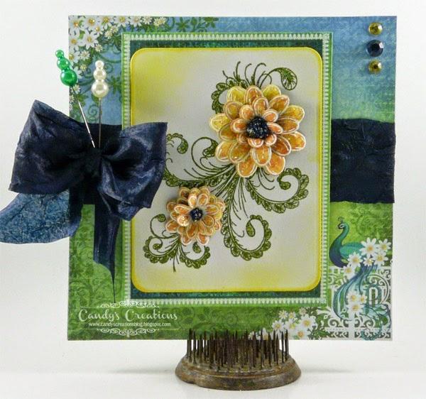 #HeartfeltCreations #PeacockPaisley #Daisy #HandmadeCards #MayArts #Want2Scrap