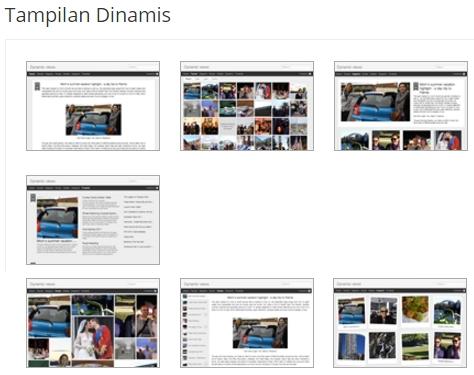 Tema Blog Tampilan Dinamis