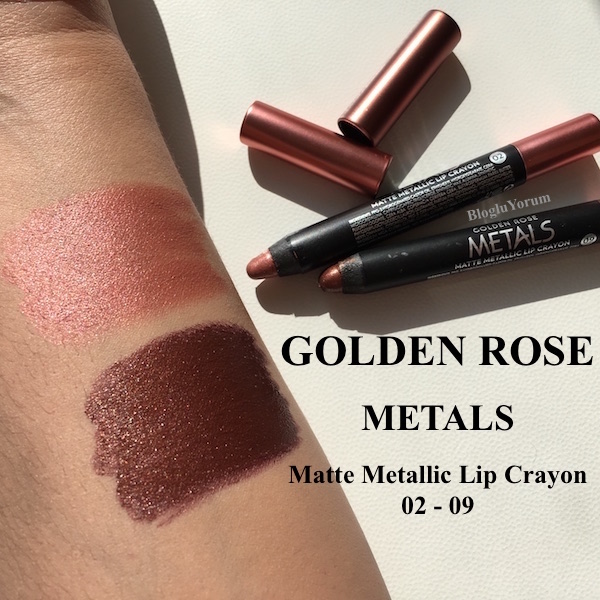 golden rose metals matte metallic lip crayon ruj 02 09 incelemesi