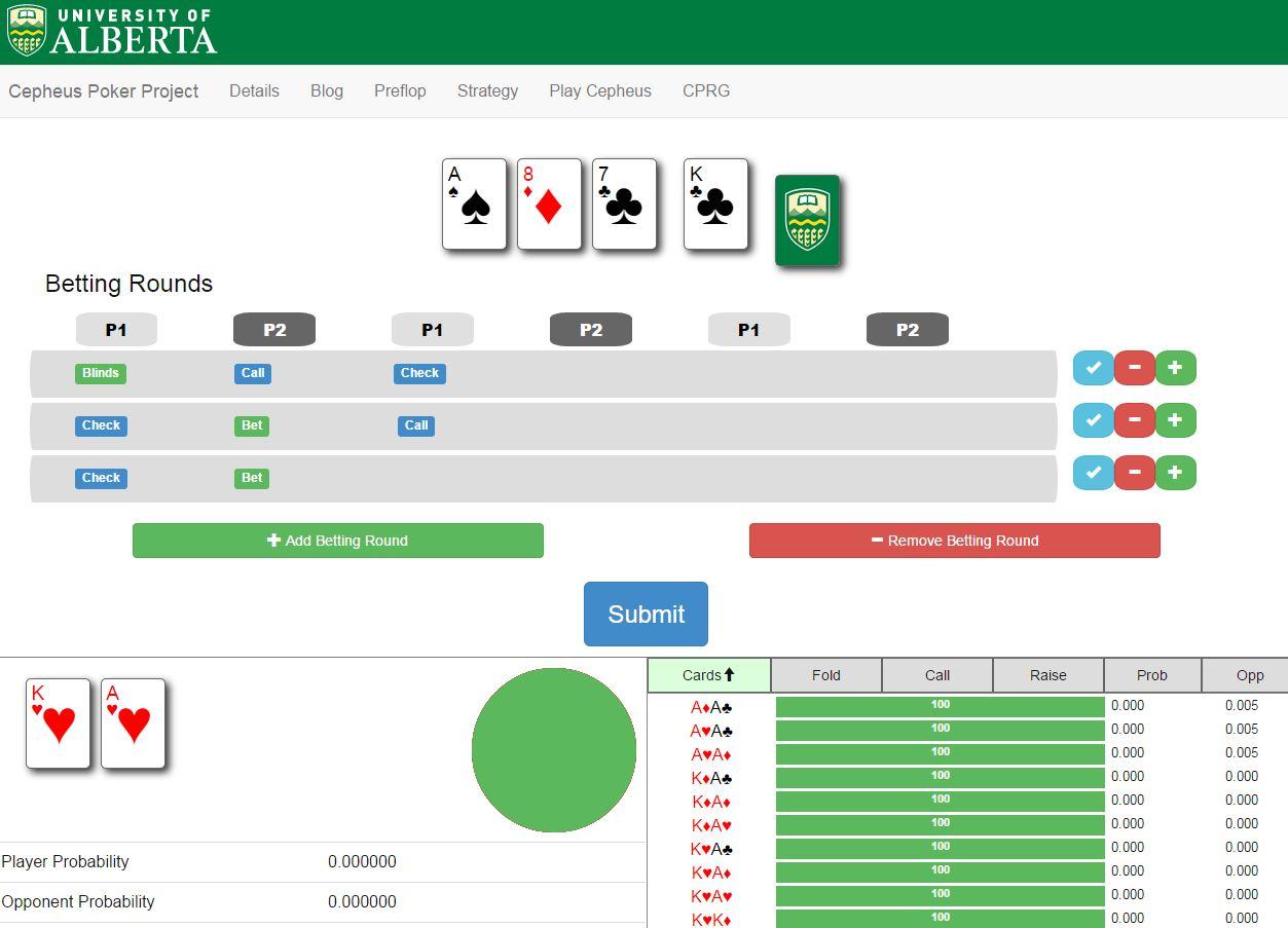 Cepheus Poker AI