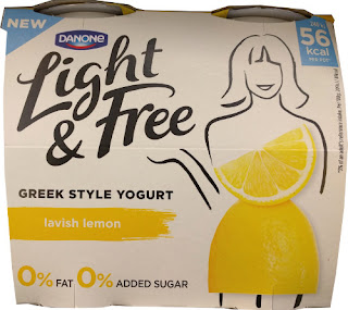 Danone Light & Free Greek Style Lemon Yogurt