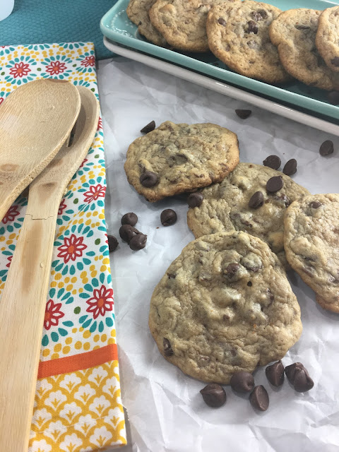 The Cookie of All Cookies recipe is a huge family favorite at my house! The easy recipe combines chocolate chips and toffee bits, into a soft chewy cookie! Chasing Saturdays