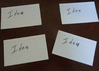 write your speech on index cards