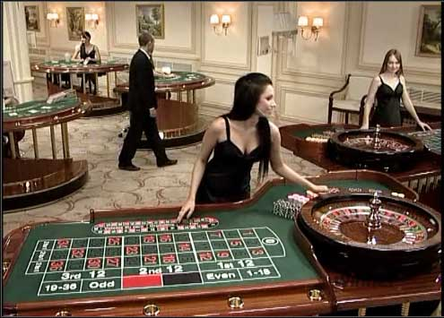 Table Layout of Online Roulette