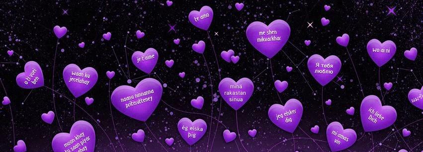 nice love facebook cover purple color