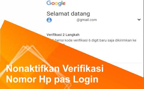 cara menghapus kode verifikasi 2 langkah