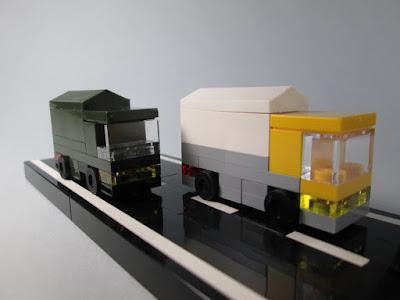Camião LEGO em micro escala