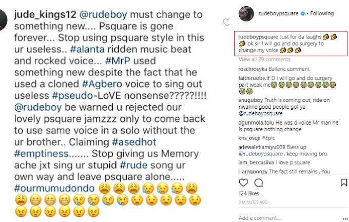 Fans Slam Rude boy For Using P-Square's Voice