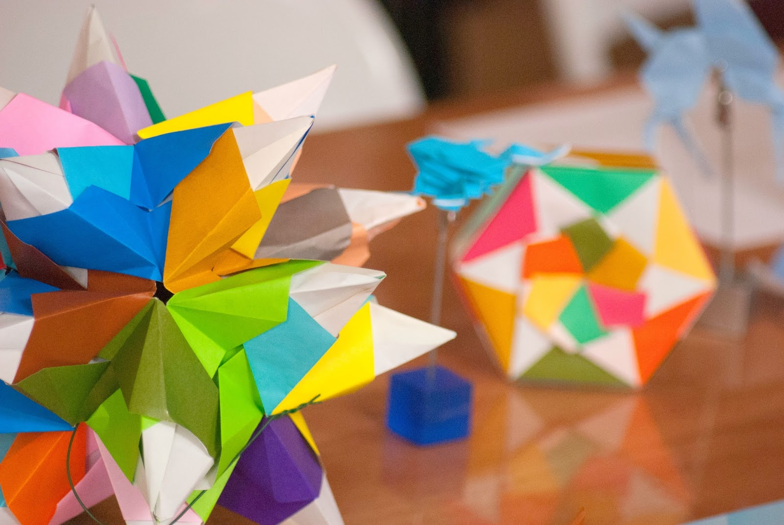 colourful origami - 100 Ways to 30, paper origami, crafts, mindfoldness, mindful origami, arts, blogging, events