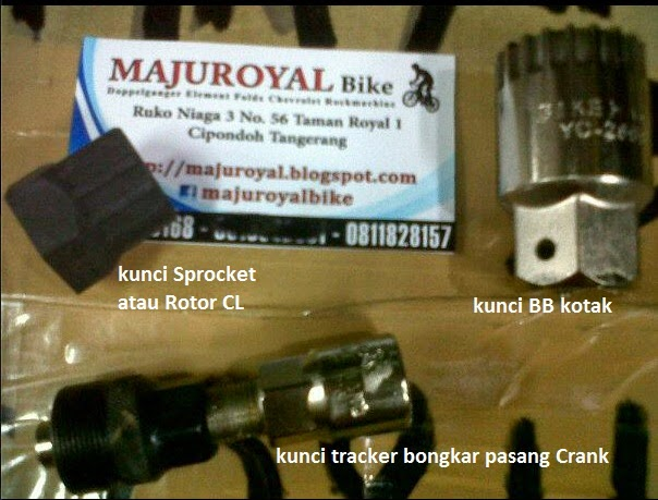 kunci sprocket bb tracker crank