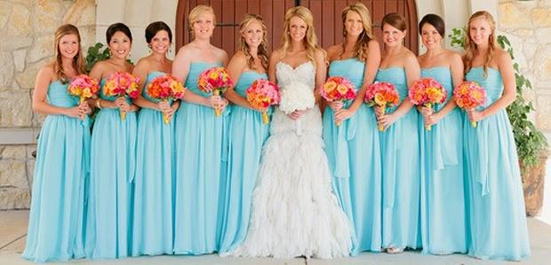 modelos de vestidos iguais para madrinhas de casamento