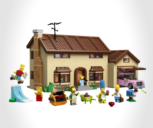 The Simpsons House made LEGO