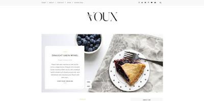 Voux - скачать бесплатно шаблон для blogger blogspot