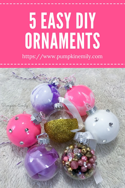 5 DIY Christmas Ornaments