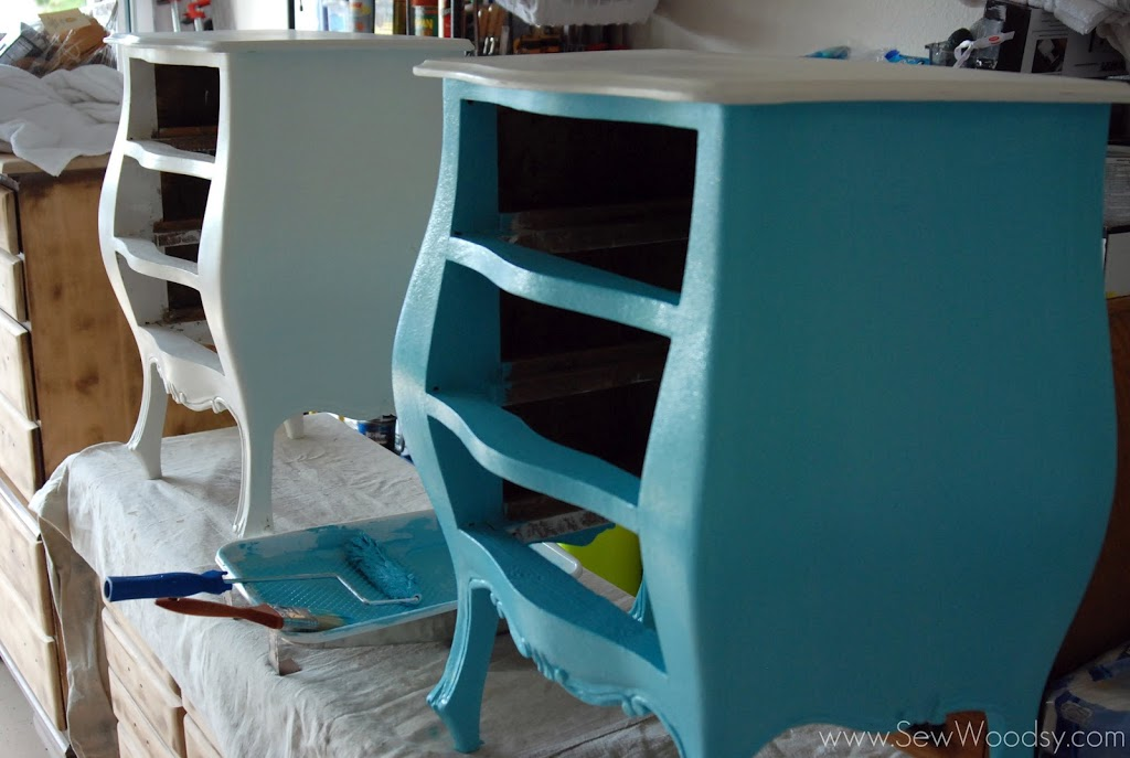 Before Cheap Antique Nightstand Revamp