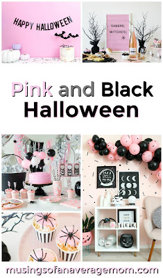 pink and black halloween