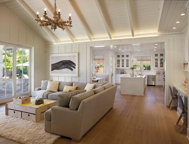 Rustic Elegant Modern Farmhouse Living Room on Hello Lovely