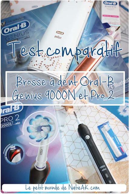 Test comparatif :Brosse à dent électrique  Oral-B Genius 9000N VS Pro 2 2000S