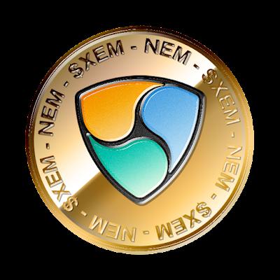 ネム(NEM)のフリー素材(金貨ver)