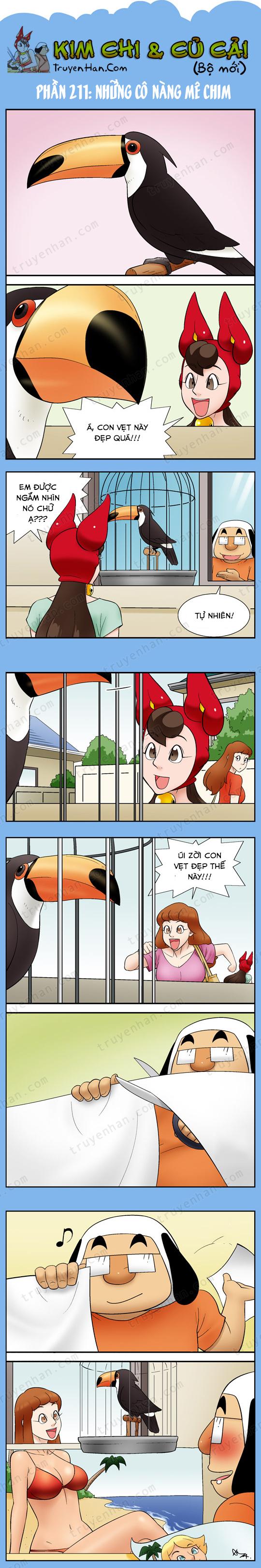 Kim Chi & Củ Cải (bộ mới) phần 211: Những cô nàng mê chim