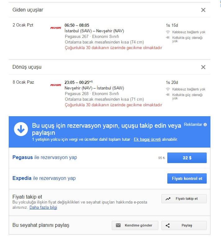 Google Flights İle Ucuz Tatil
