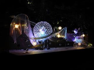 Montaje de luces representando la Tanabata en Kioto