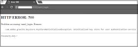 Uninitialised-Keystore-authentication-service