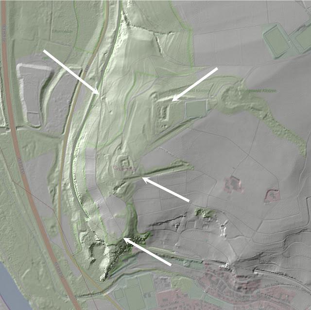 Fortifications de l'Isteiner Klotz — LIDAR (Geoportal BW)