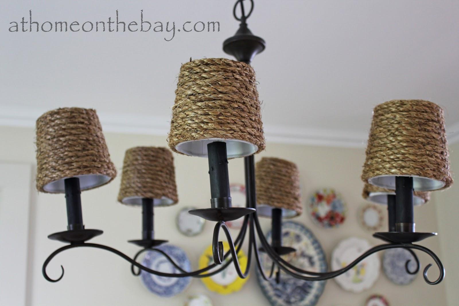 Rattan chandelier shades chandelier ideas diy pottery barn inspired chandelier shades aloadofball Images
