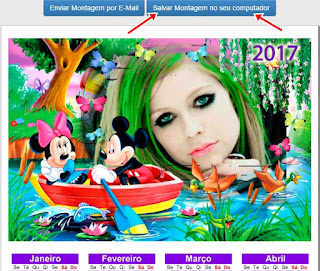 Celendario 2017 personalizado
