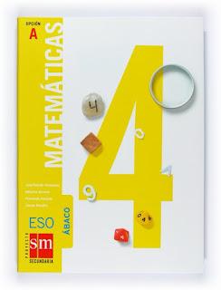 Libro Matemáticas 4º ESO SM Opción A Proyecto Ábaco