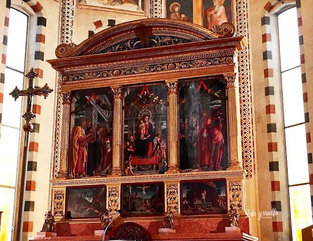 San Zeno Verona, obra de Mantegna