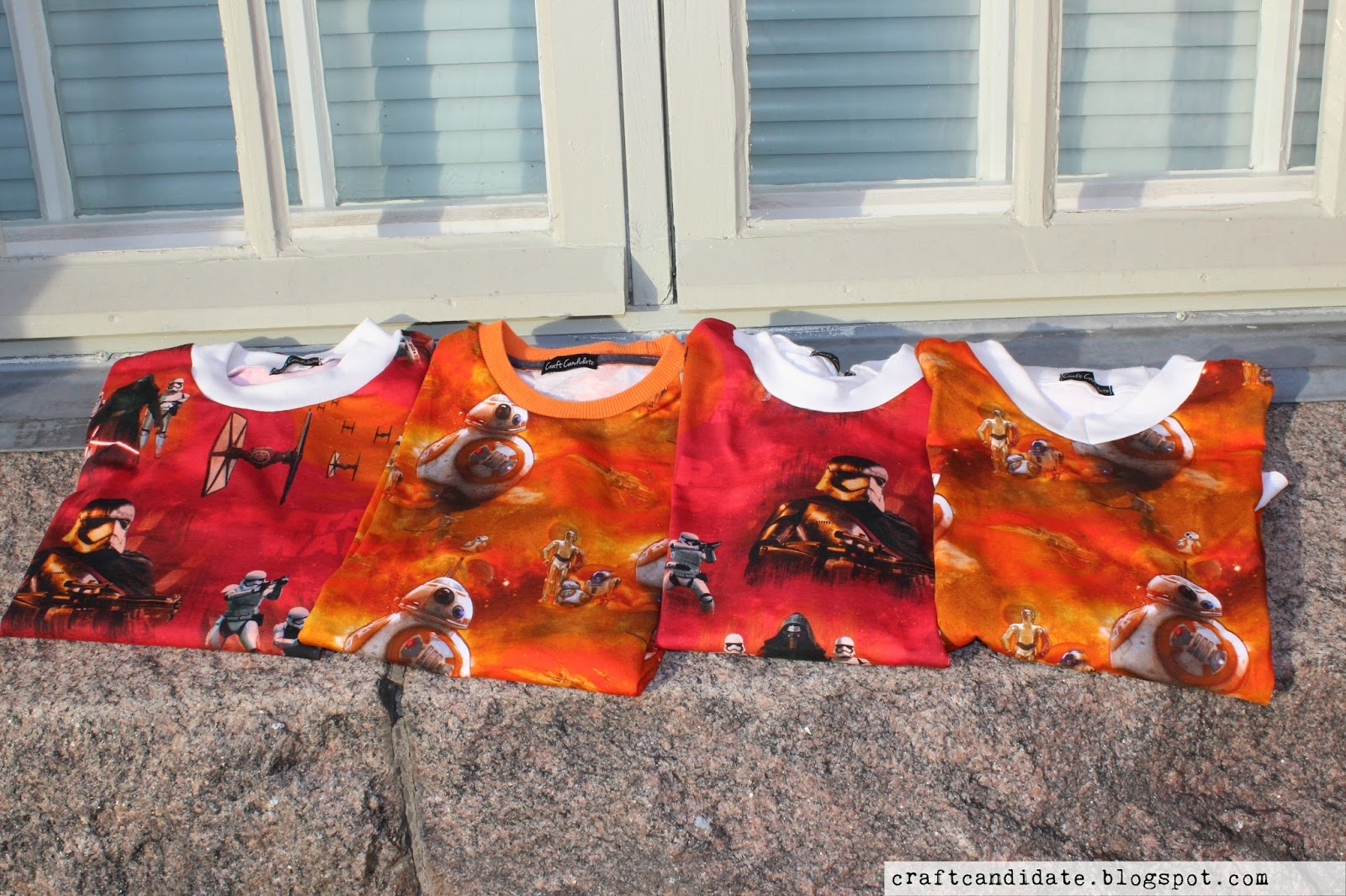 star wars, paidat, t-shirts, ompelu, sewing, kierrätys, ecodesign, upcycling