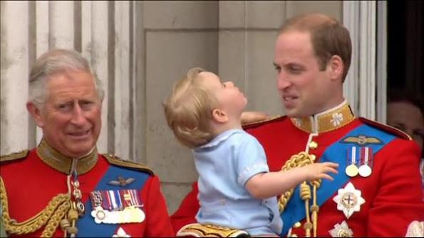 Queen Elizabeth II, Prince Charles, Prince of Wales, Prince William, Duke of Cambridge, Catherine, Duchess of Cambridge and Prince George of Cambridge